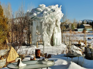 The Ice Palace, January 8 to March 5 2013, 'Birdhaven', The Colorado Rocky Mountain Sculpture Garden, Woody Creek, Colorado