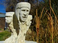 The Ice Palace Snowgoyles, Kansas Creme Limestone by Martin Cooney, Woody Creek, Colorado