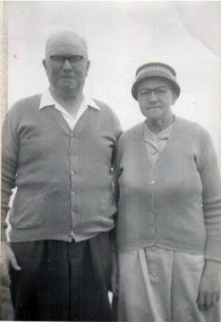 Granddad and Grandma 'Nanny' Cooney, of Preston, Lancashire