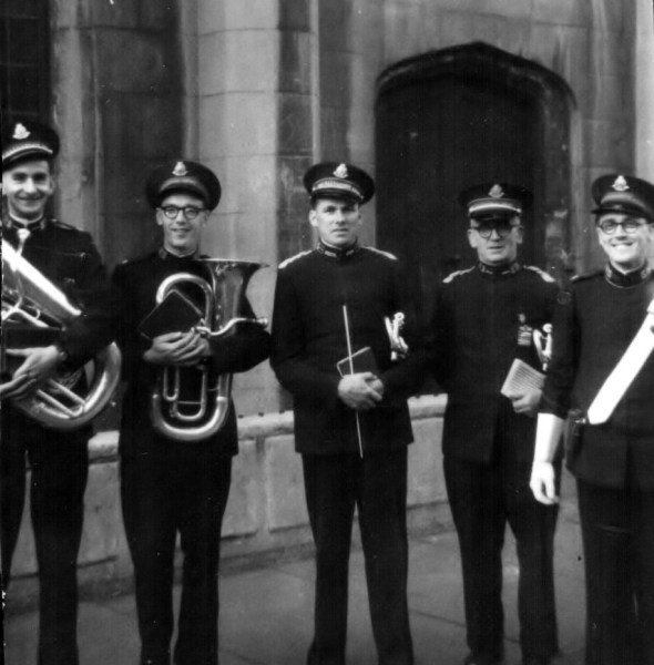 James P Cooney leads the Preston Salvation Army Band