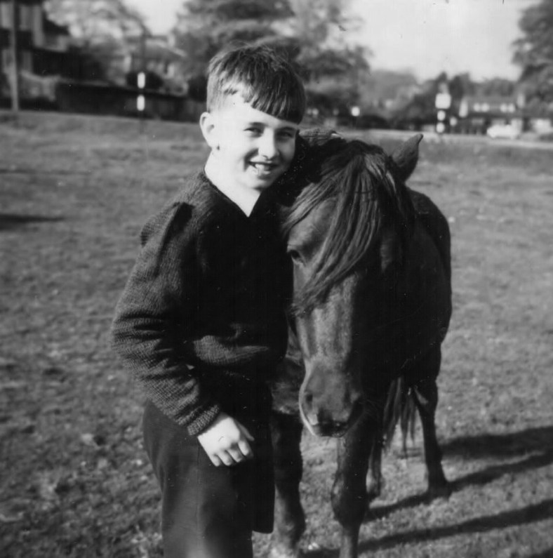 Martin Cooney with a real live New Forest Pony many years ago!