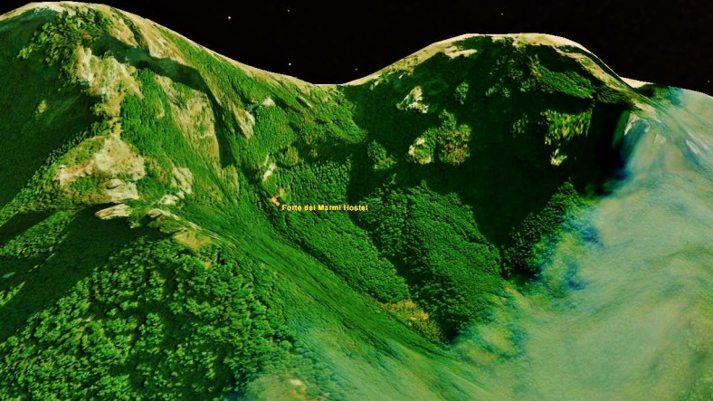 Forte dei Marmi Hostel, Map 7, Google Earth