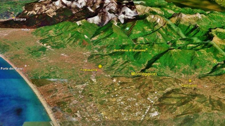 Monteggiori, Map 1, Google Earth