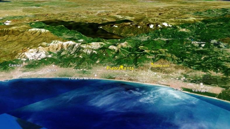 Pietrasanta Map 2 Google Earth
