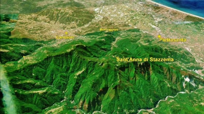 Sant'Anna di Stazzema, Map 2 Google Earth