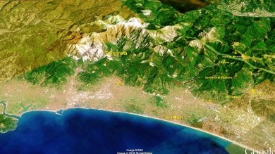 Colonnata Map 1 Google Earth