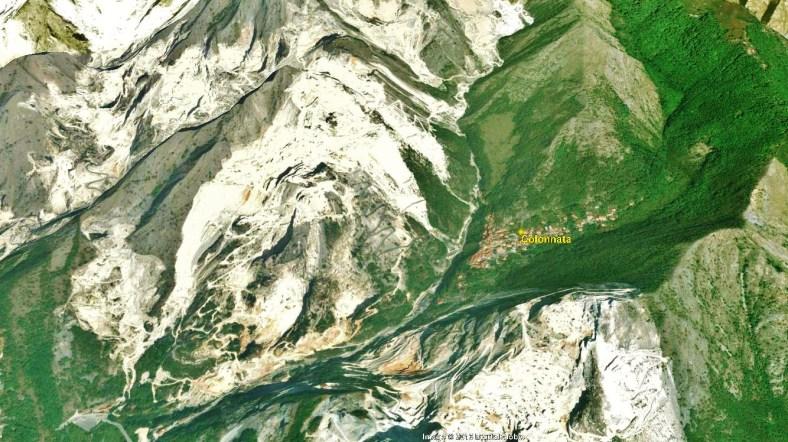Colonnata Map 4 Google Earth