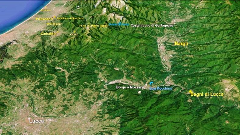 Bagni di Lucca map 2 Google Earth