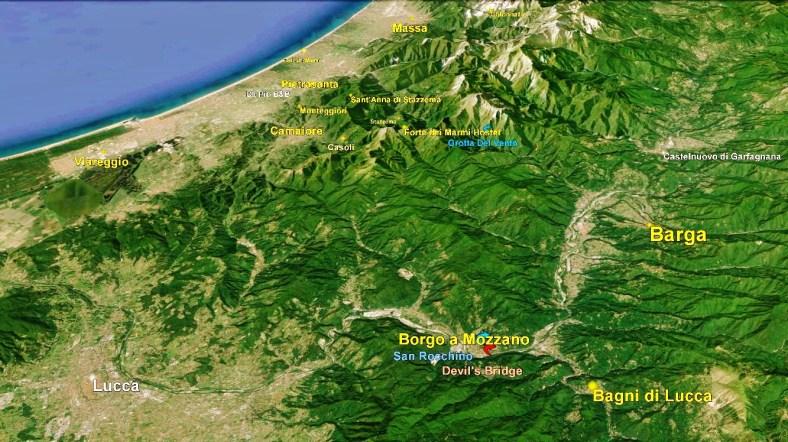 Borgo a Mozzano Big Map 1 Google Earth