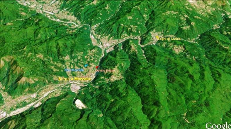 Borgo a Mozzano Map 2 Google Earth