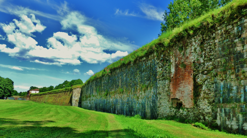 The Walls of Lucca, North West Tuscany, Italy