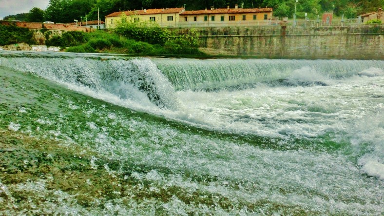 Weir on the Sergio River, Ripafratta, Countryside Around Lucca and Pisa
