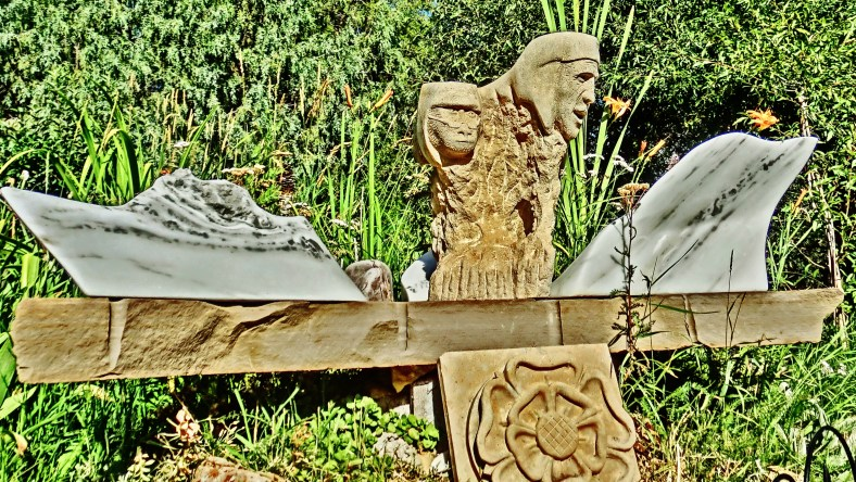 Dreadnought, Snowgoyles, Tudor Rose, Mabel, Yule Marble Sculpture by Martin Cooney.