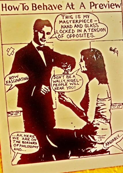 Postcard: How to Behave... mid eighties, London, England, UK.