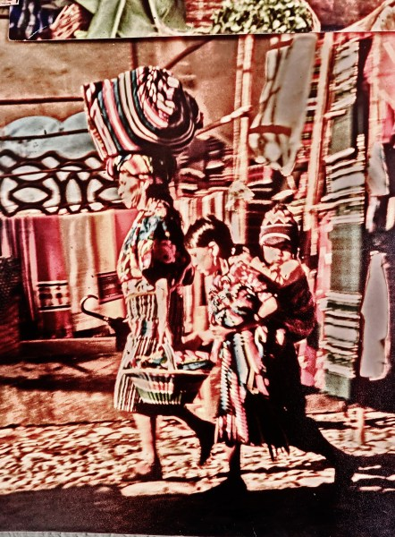 Detail, Guatemala Villagers head home for the day, early eighties, photo Martin Cooney.