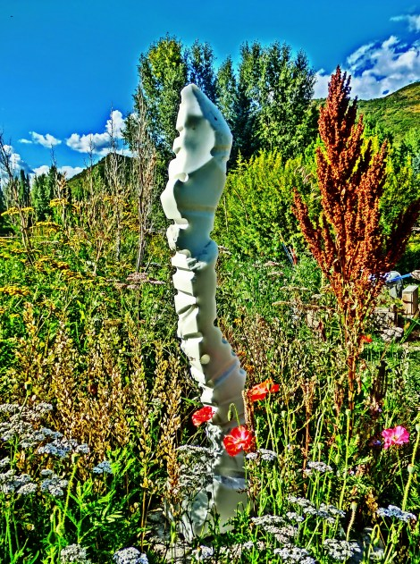 "$3,200 Inner Strength 7x10x47"", Yule Marble Sculpture by Martin Cooney"