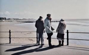 Martin Cooney with parents Jim and Ruth, Lancashire Coast, Irish Sea, mid 1980s