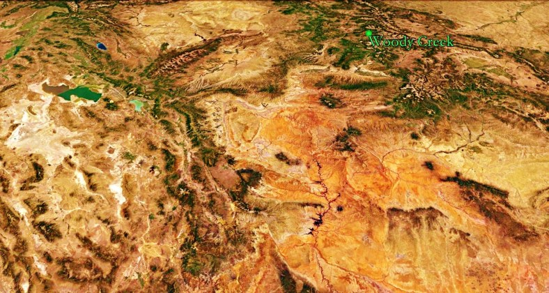 The South West American Way and Woody Creek from Space, map 11
