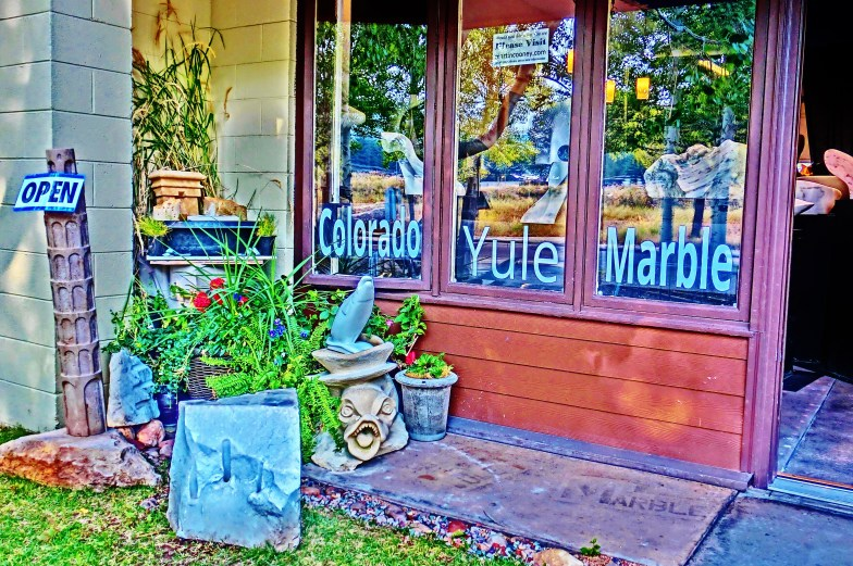 KMJ Entrance, Colorado Yule Marble Sculpture by Martin Cooney