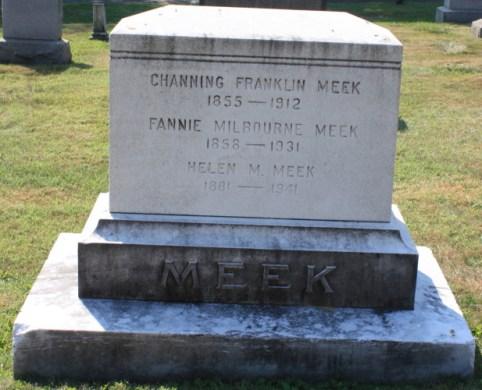 Channing Franklin Meek, gravestone