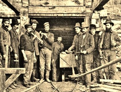 Miners, Carbonate Mine, Leadville,Colorado