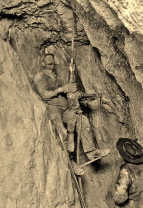 Miners, Drilling, Gilpin County, Colorado