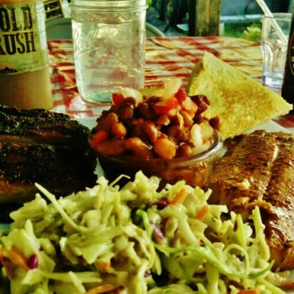 Slow Groovin BBQ food 2, Marble Colorado, Along the Aspen Marble Detour