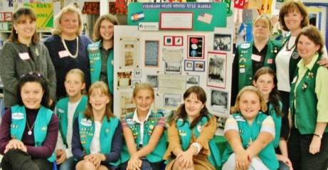 Girl Scout Troop 60357 of Lakewood, Colorado Yule Marble State Rock Advocates