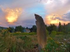Three Faces, Sculpture Garden, Around Dusk