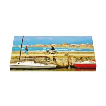 Chance Encounter, Viareggio Pier, Wrapped Canvas Print. 27x14, Up.