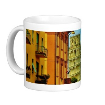 First Glimpse, Leaning Tower of Pisa, Classic Mug, Left