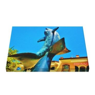 Forte dei Marmi Dolphin Sky Shot, 22 x 17, Wrapped Print Canvas Print, up