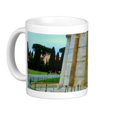 Leaning Tower of Pisa Entrance at Dusk, Classic Mug, Left