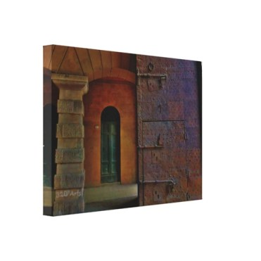 Monumental Gates, Lucca, 22 x 16, Wrapped Canvas Print, left