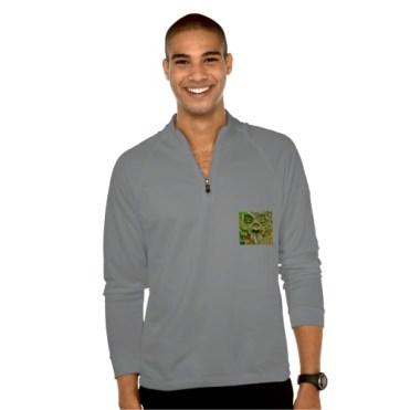 Pizzi Palace Boboli Garden Gargoyle, Men, Adidas ClimaLite Training Half Zip Pullover, Front, Model, Grey