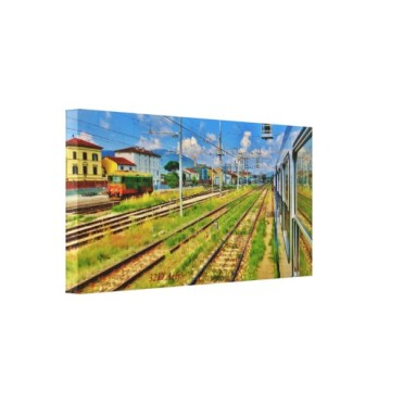 Pulling into Lucca, 24 x 12, Wrapped Canvas Print, left