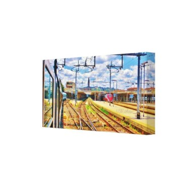 The Approach to Florence Station, 18 x 9,Wrapped Print Canvas Print, right