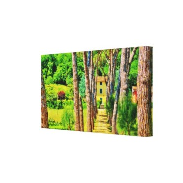 Tuscan Tree-lined Drive, Wrapped Canvas Print, 22 x 12, right