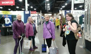Vivian's family at the Showplex shopping