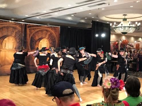 Hoi Polloi Fusion Belly Dance Troup of Sacramento gets creative at Rakkasah West.