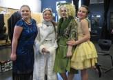 Maryann Ekstrom, Skylar Wondrusch in center as Trix the Aviatrix and Kitty
