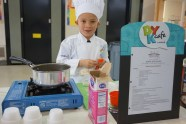 "Owen Davidson, first grade student at John Muir Elementary, won first place in the Martinez ""Future Chefs"" competition."