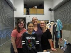 R to L, Erin Keller, Ellise Limjoco, Ms. Sara Stafford