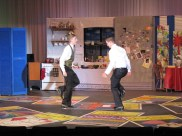 Tyler Caspar, David Miller tap dance as Robert and George