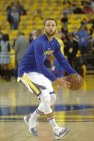 Steph Curry Warming up before game one vs New Orleans Pelicans Photos by Kym Fortino Martinez News-Gazette