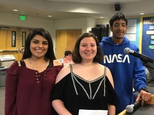 Norma Quintana, Sandra Cruz Gonzalez and Terell Ferris