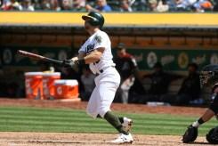 Oakland Athletics vs D-Backs #18 2B Chad Pinder Home Run Photos by Tod Fierner Martinez News-Gazette