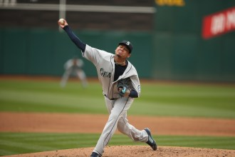 Oakland Athletics vs Seattle Mariners Pitcher King Felix Photos by Tod Fierner Martinez News-Gazette