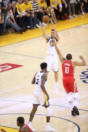 Golden State Warriors vs Houston Rockets Game 6 #11 Klat Thompson Threeeee Photos by Tod Fierner Martinez News-Gazette