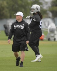 Oakland Raiders OTA Deuce Gruden Strength Coach Photo by Gerome Wright
